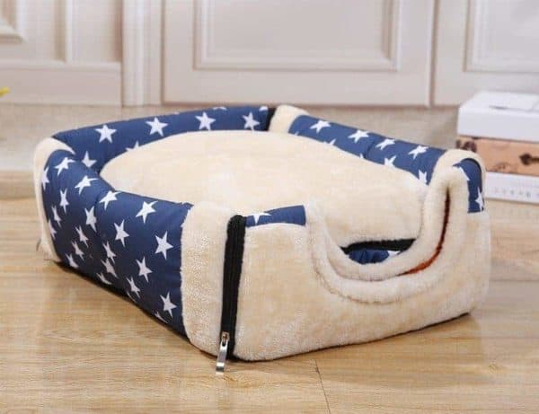 Dog Kennel House Bed Blue with Stars - Base