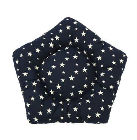 Dog Teepee Bed with Cushion Stars Pattern - Mat Dark Blue