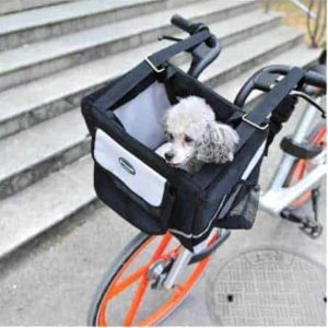 Bicycle Dog Carrier in Black - Detail