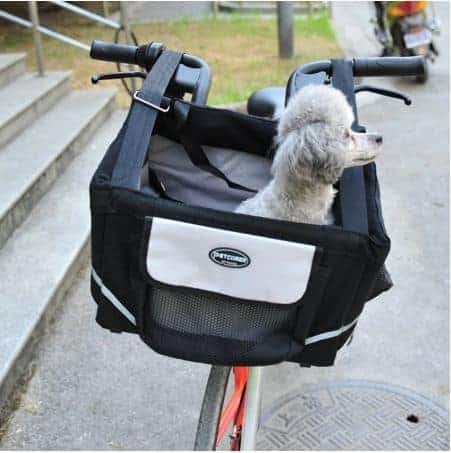 Bicycle Dog Carrier in Black - Front