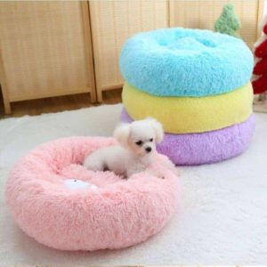 Fluffy Dog Bed Cushion - Various, 50x50cm - In Use