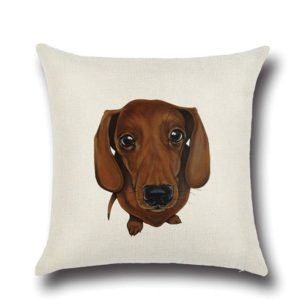 Cute Daschund Cushion Cover