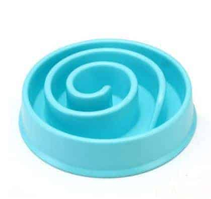 Dog Bowl Diet Control Non-Spill - Blue