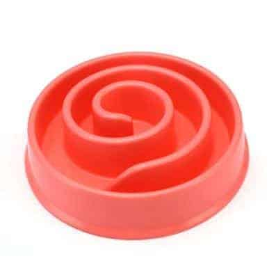Dog Bowl Diet Control Non-Spill - Red
