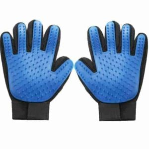 Grooming Fur Brush Gloves Blue