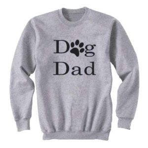 'Dog Dad' Sweatshirt Jumper - Grey