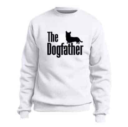 'The Dogfather' Sweatshirt Jumper - White