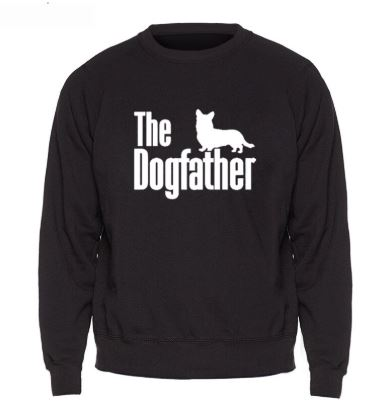 'The Dogfather' Sweatshirt Jumper - Black
